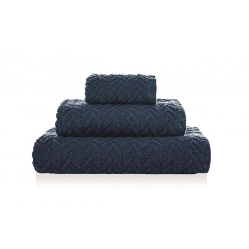 CHEVRON - [Conjunto de três (3) toalhas de Banho - Dark Denim]