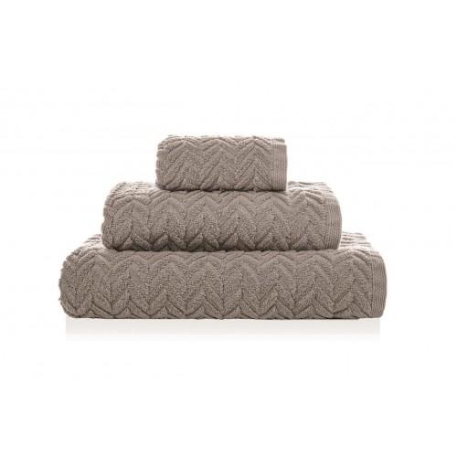 CHEVRON - [Conjunto de três (3) toalhas de Banho - Fog]