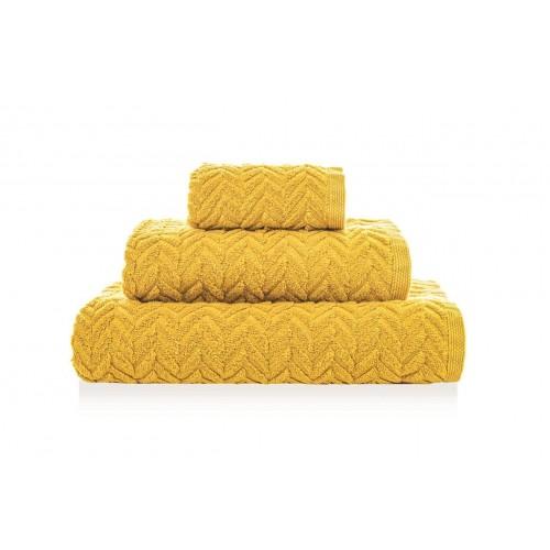 CHEVRON - [Conjunto de três (3) toalhas de Banho - Mustard]