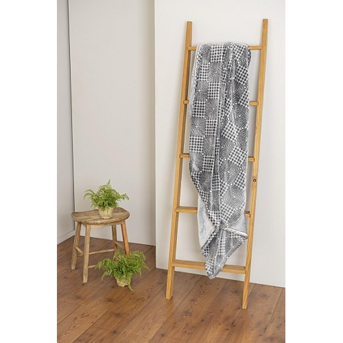 GIANA- [Manta Decorativa - Cinza]