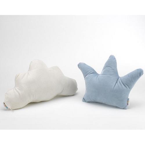 NUVEM + COROA [Pack de 2 Almofadas - Branca/Azul]