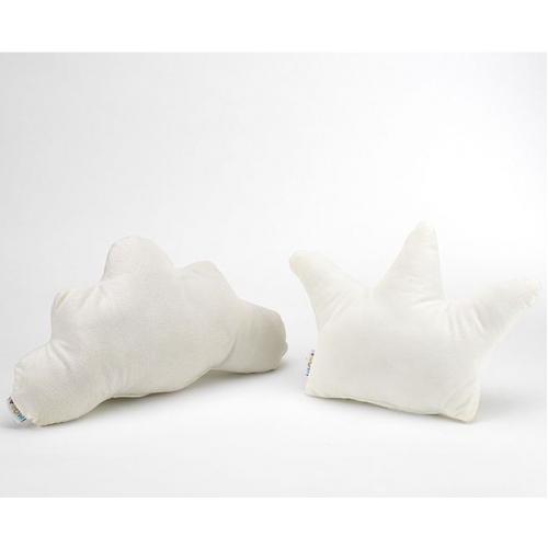 NUVEM + COROA [Pack de 2 Almofadas - Branca/Branca]