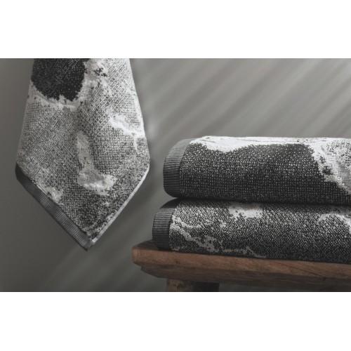 MARBLE - [Conjunto de três (3) Toalhas de Banho - Silver]